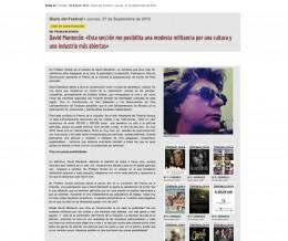 Nota de prensa en la Revista del Festival de Cine de San Sebastián